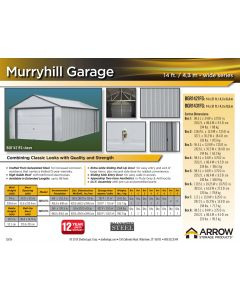 Arrow Murryhill 14'x31' Metal Garage