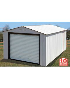 Duramax 12x26 Metal Garage - White