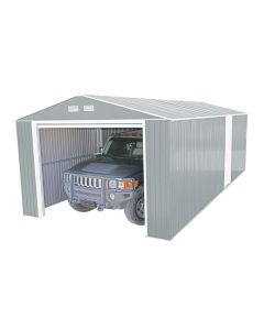 duramax 12x20 light grey metal garage