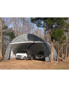 Rhino 30x30x15 Three Car Round Shelter