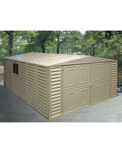 duramax 10x18 vinyl garage
