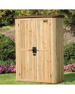 Suncast 5x3 Cedar Vertical Shed - WRS4200