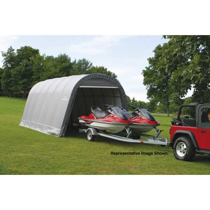Shelter Logic 13x28x10 Round Top Garage 90233-4