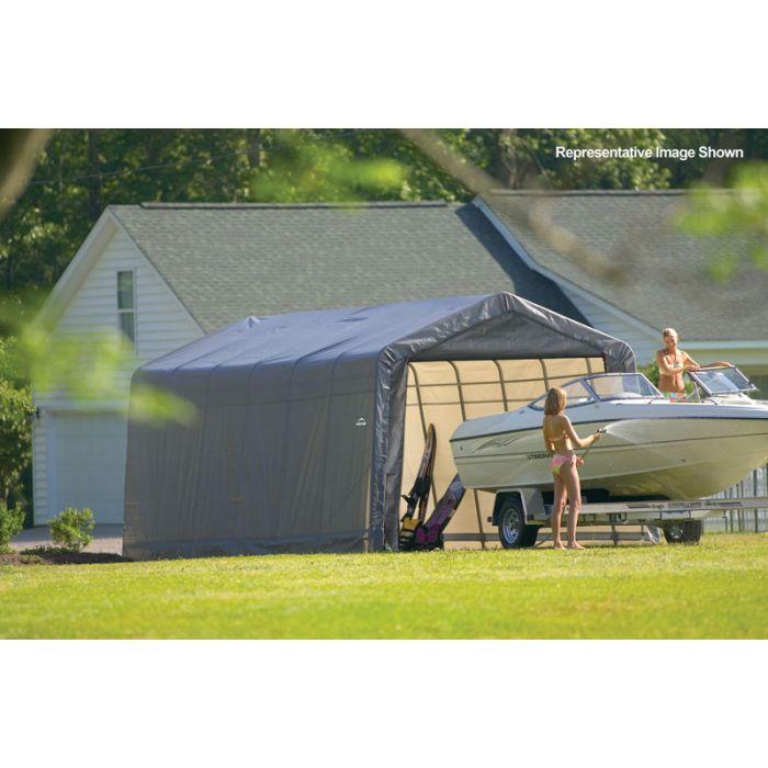 Shelter Logic 12x24x8 Peak Garage 72434-44