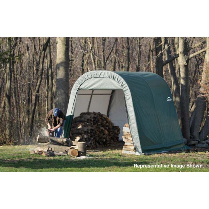 Shelter Logic 8x24x8 Round Top Shelter - 76903
