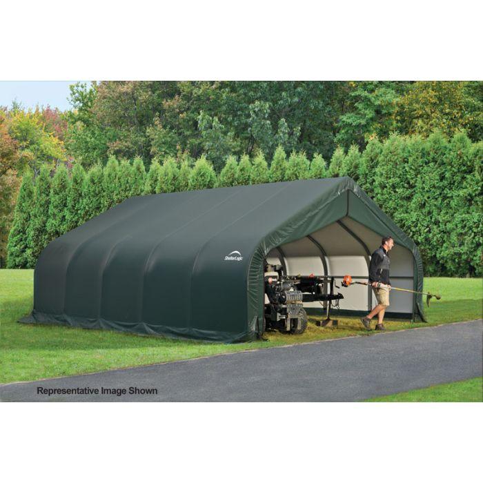 Shelter Logic 18x28x10 Peak Garage 80005-6