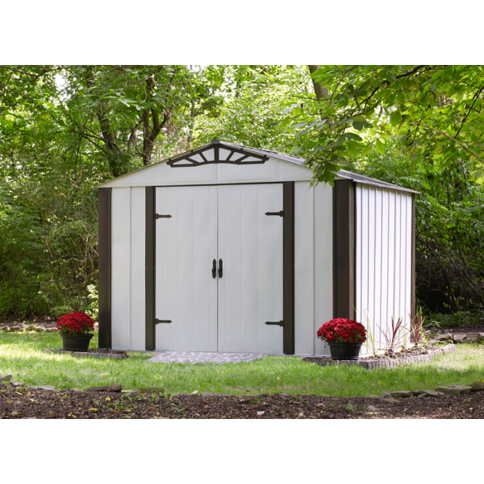 arrow designer series 10x8 steel shed