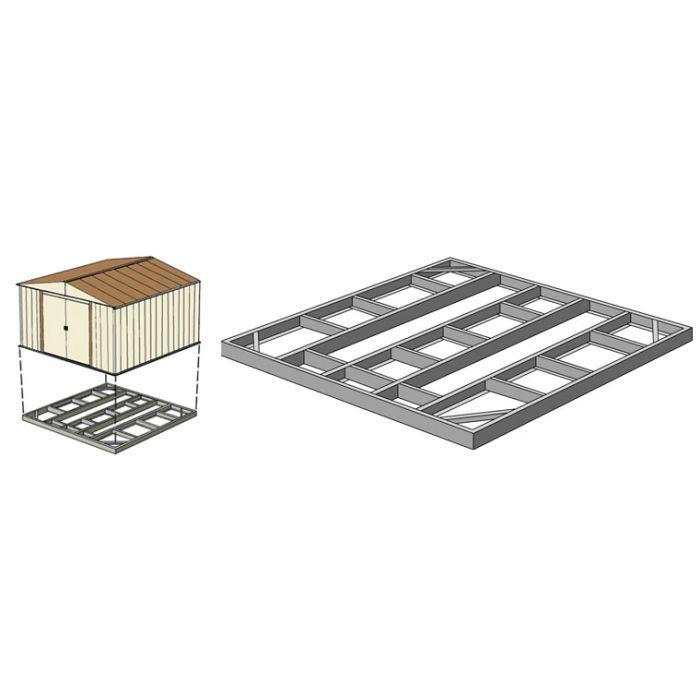 Arrow FDN1014 Base Foundational Kit - Base Kit for 10'x12', 10'x13'x 10'x14'