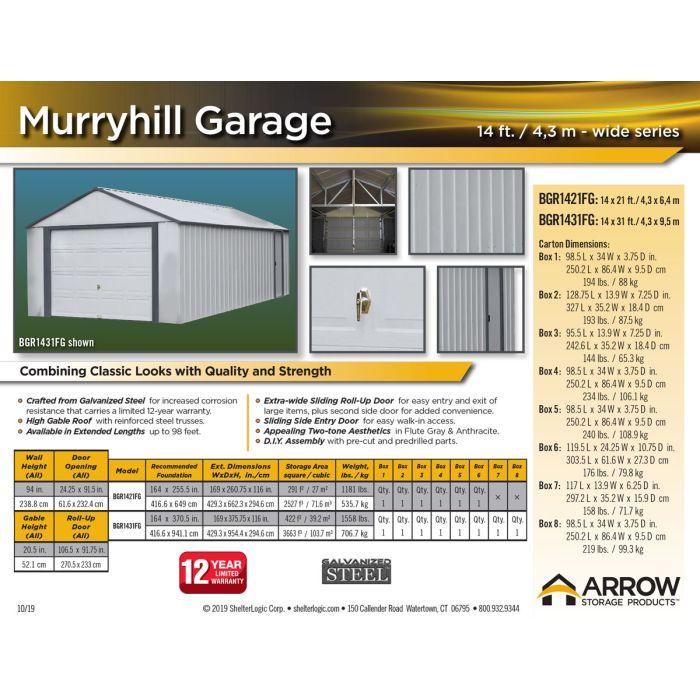 Murryhill 14ft Garage