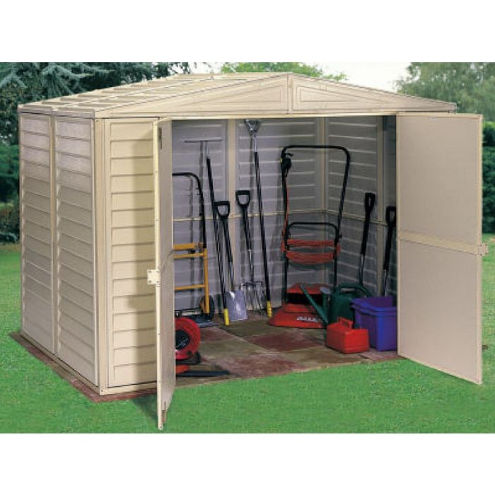 Duramax Duramate 8x8 Vinyl Shed (with foundation floor kit)