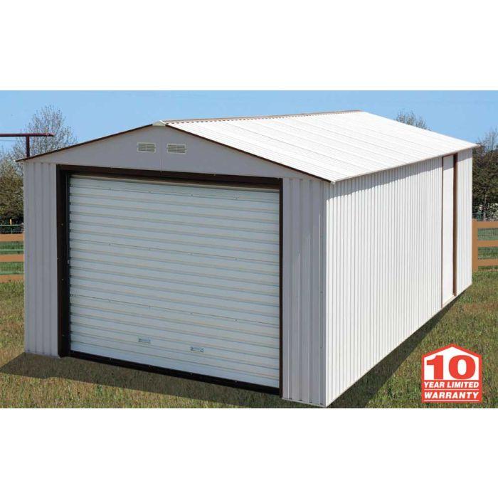 Duramax 12x32 Metal Garage - White