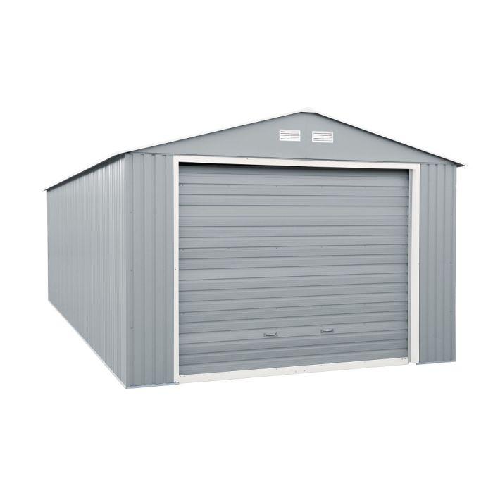duramax metal garage light grey 12x26