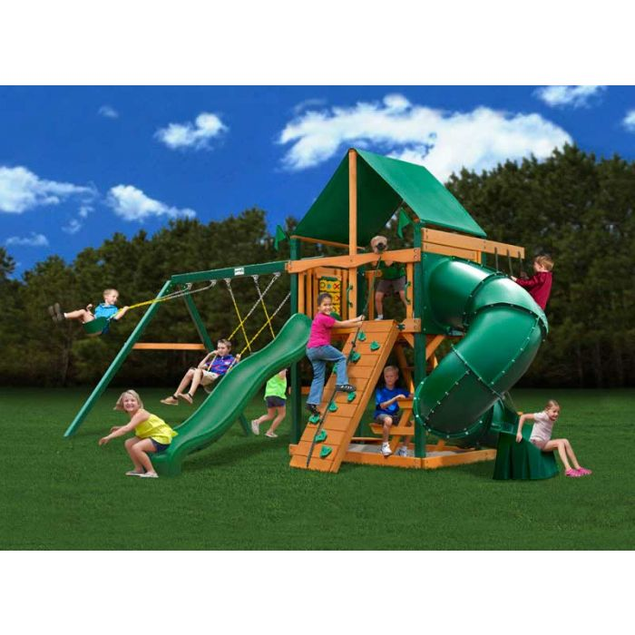 Gorilla Mountaineer Deluxe Cedar Swing Set