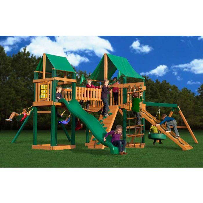 Gorilla Pioneer Peak Deluxe Cedar Swing Set