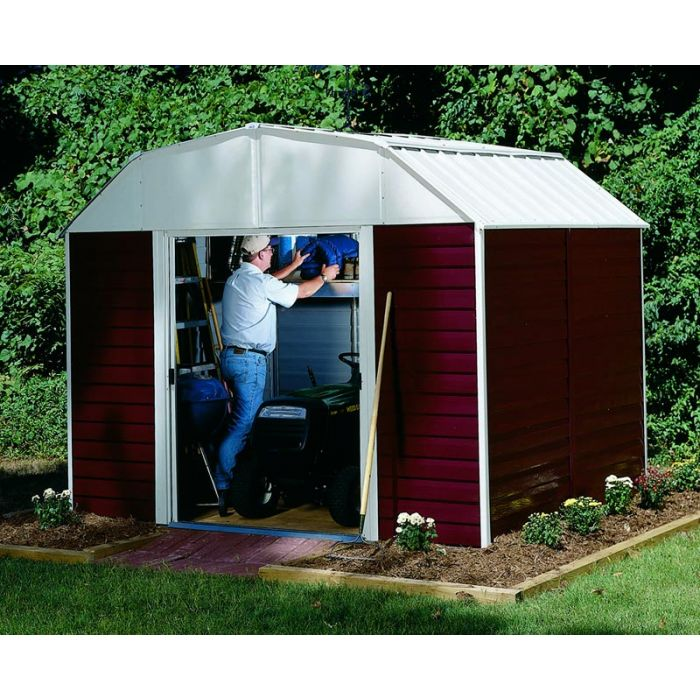 Arrow Red Barn 10'x14' Metal Shed