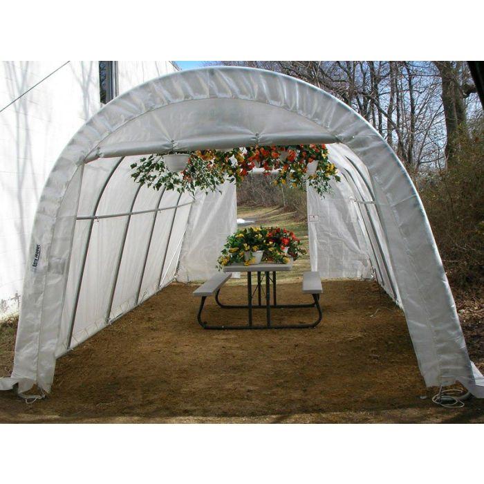 Rhino 12x20x8 Hobby Round Greenhouse
