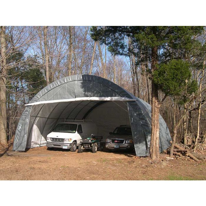 Rhino 30x30x15 Three Car Round Shelter