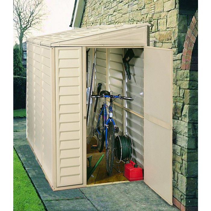 Duramax 4x8 Side Mate Vinyl Shed